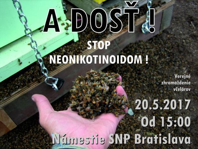 Verejne zhromazdenie vcelarov Namestie SNP Bratislava 20.5.2017 proti postrekom
