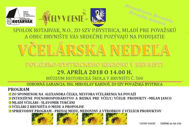 Pozvanka na tradicnu Vcelarsku nedelu v Brvnisti